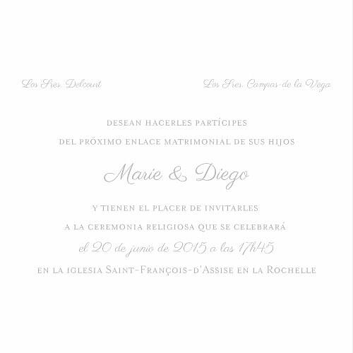 Faire-part de mariage Chic bilingue gris - Page 2