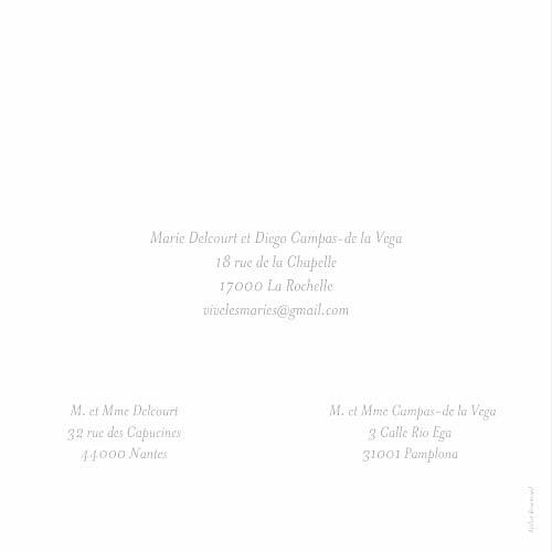 Faire-part de mariage Chic bilingue gris - Page 4