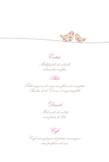 Menu de baptême Poétique rose - Page 3