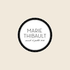 Faire-part de mariage gourmandise boudoir beige noir
