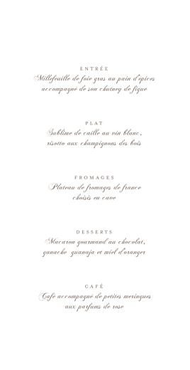 Menu de mariage Fleur de lotus vert pale - Page 3