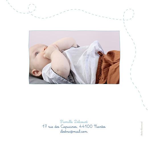 Faire-part de naissance Origami papillon 5 photos bleu