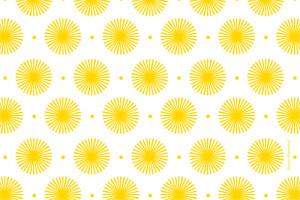 Carte de remerciement Petit pistil jaune