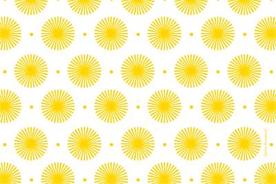 Carte de remerciement Petit pistil jaune finition