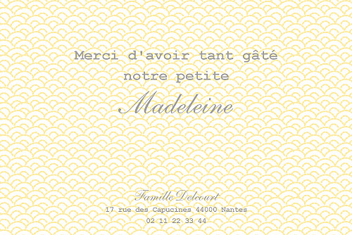 Carte de remerciement Petit pistil jaune - Page 2