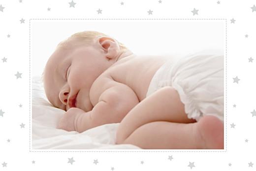 Carte de remerciement Merci nuage photo perle