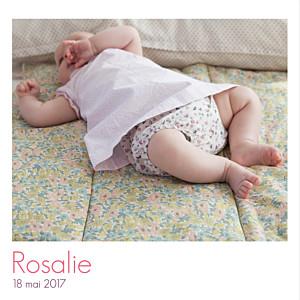 Faire-part de naissance marianne fournigault simple 3 photos blanc