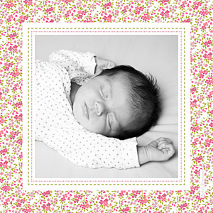 Carte de remerciement liberty merci liberty photo rose