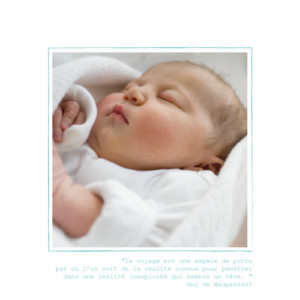 Faire-part de naissance Bilingue italie photo turquoise