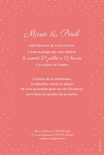 Faire-part de mariage Idylle corail - Page 2