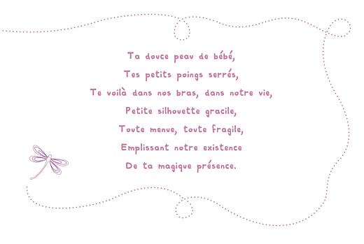 Faire-part de naissance Libellule paysage prune - Page 3