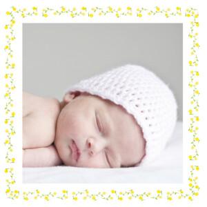Faire-part de naissance Cueillette photo jaune