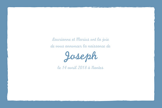 Faire-part de naissance Cheval paysage photo 4 pages bleu prusse - Page 3