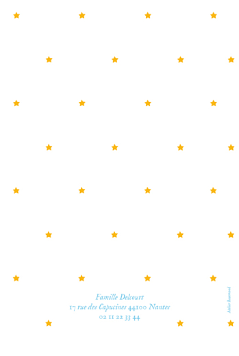 Faire-part de naissance Montgolfière (4 pages) jaune bleu - Page 4
