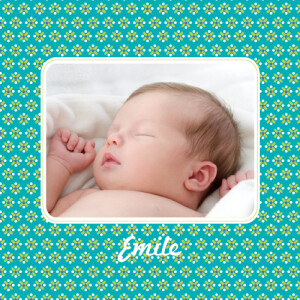 Faire-part de naissance Pop 2 photos bleu