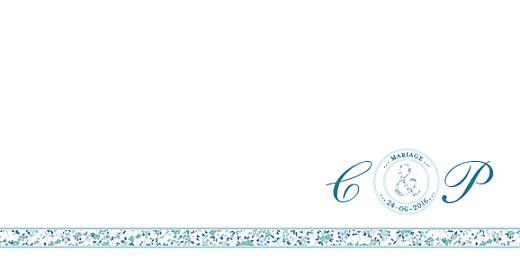Faire-part de mariage Ruban liberty bleu