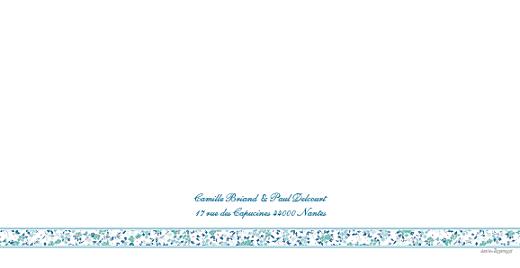 Faire-part de mariage Ruban liberty bleu - Page 4
