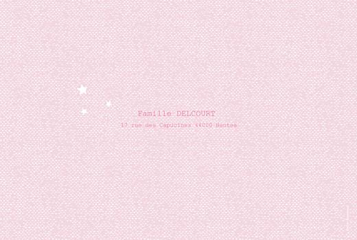 Faire-part de naissance Nuage paysage 4 pages rose