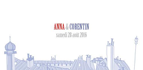 Marque-place mariage Paris bleu-rouge-gris - Page 4