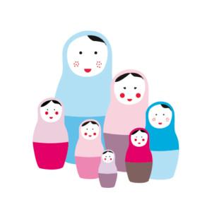 6 poup es russes photo faire part de naissance - Faire part poupee russe ...