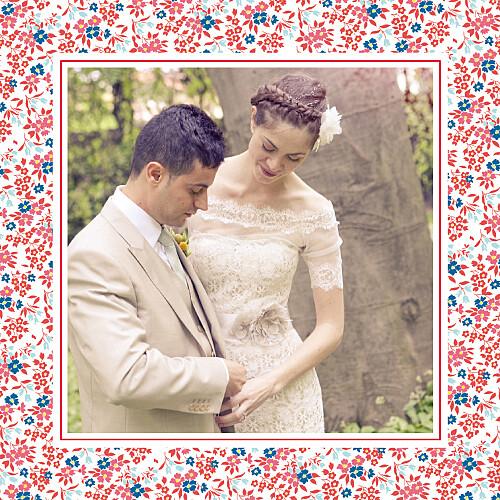 Carte de remerciement mariage Petit liberty rouge - Page 2