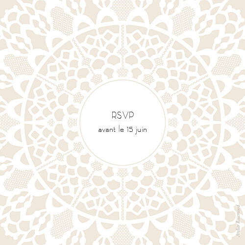 Carton réponse mariage Boudoir dentelle beige blanc - Page 2