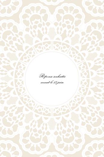 Carton d'invitation mariage Boudoir dentelle beige blanc 2 - Page 2