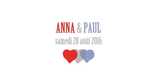 Marque-place mariage Toits de paris bleu-rouge-gris - Page 3
