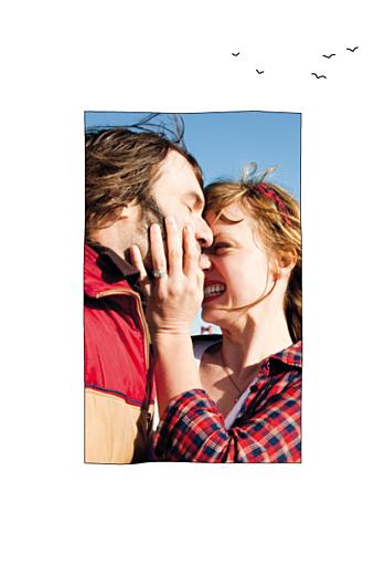Carte de remerciement mariage Promesse (portrait) blanc