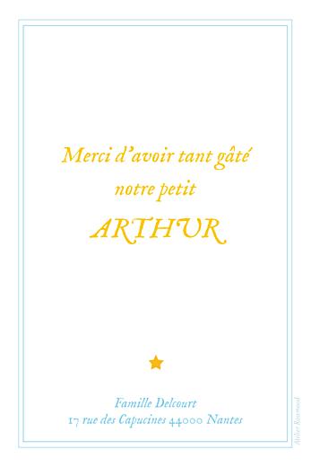 Carte de remerciement Petite montgolfière bleu jaune - Page 2