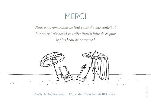 Carte de remerciement mariage Promesse sur le sable (3 photos) blanc - Page 2