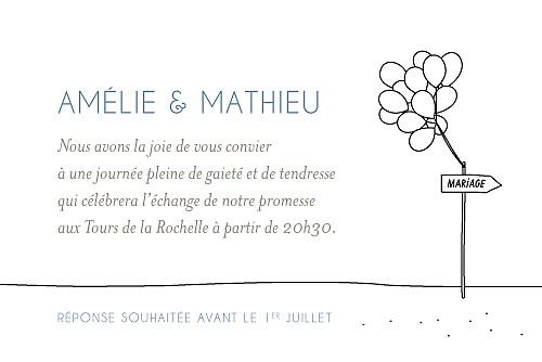 Carton d'invitation mariage Promesse sur le sable barque - Page 2