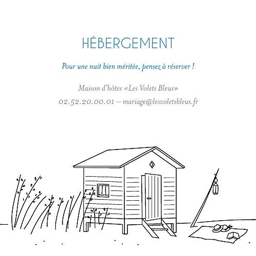Carton d'invitation mariage Promesse sur le sable (carré) blanc - Page 2