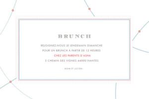 Carton d'invitation mariage Voyage blanc