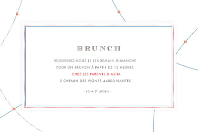 Carton d'invitation mariage Voyage blanc finition