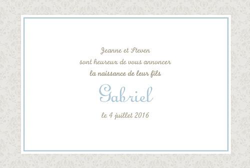 Faire-part de naissance Bilingue florale paysage bleu - Page 3