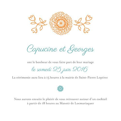 Faire-part de mariage Champetre multicolore - Page 3