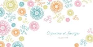 Faire-part de mariage Champetre multicolore