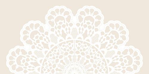 Marque-place mariage Boudoir dentelle beige blanc