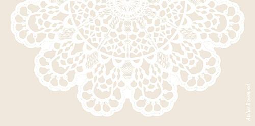 Marque-place mariage Boudoir dentelle beige blanc - Page 3