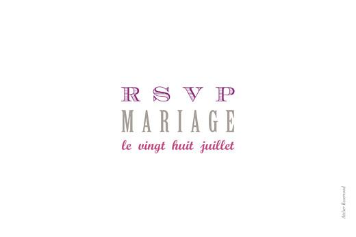 Carton réponse mariage Le plus beau jour blanc - Page 2