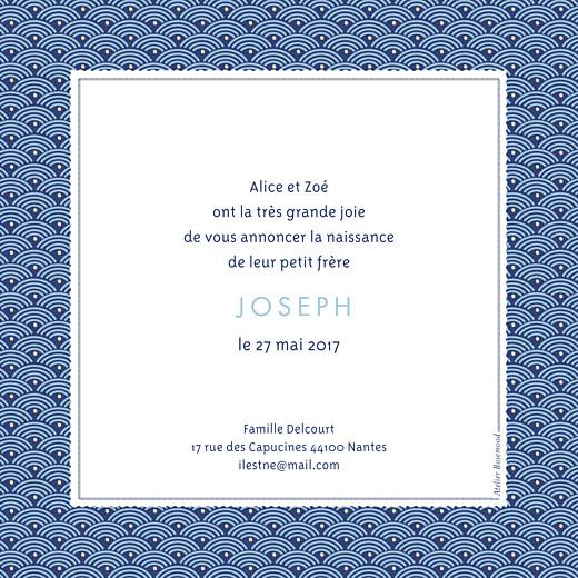 Faire-part de naissance Pattern fantaisie photo bleu - Page 2