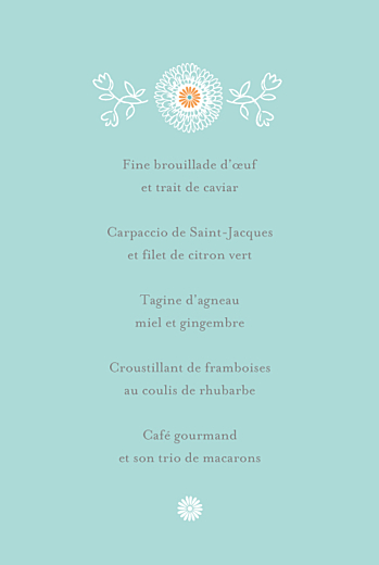 Menu de mariage Champêtre multicolore - Page 3