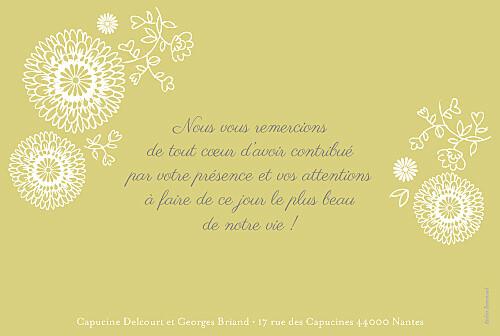 Carte de remerciement mariage Champêtre multicolore - Page 2