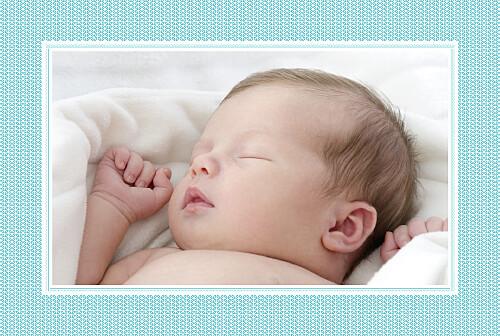 Faire-part de naissance Accolades 1 photo bleu