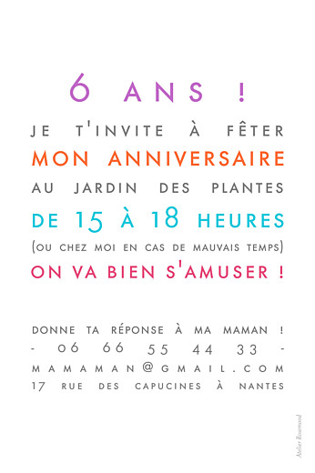 Carte d'anniversaire Justifié photo portrait blanc - Page 2