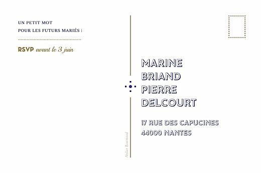 Carton réponse mariage Rétro bleu bronze - Page 2