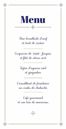 Menu de mariage Rétro bleu bronze - Page 3