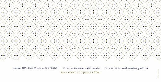 Faire-part de mariage Rétro bleu bronze - Page 2
