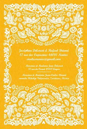 Faire-part de mariage Papel picado soleil - Page 2